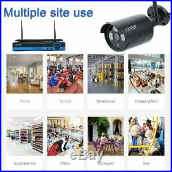 4CH 720P HD Wireless Security Camera System &Monitor CCTV Outdoor WiFi Home OY