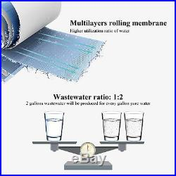 6 Stage Reverse Osmosis RO System Water Filter With Alkaline Filter 75 GPD