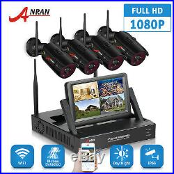 ANRAN WiFi 1080P 4CH 7LCD NVR Camera Wireless Security System Night Vision HDMI