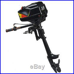 NEW 2 Stroke 3.6HP Heavy Duty Outboard Motor Boat Engine withWater Cooling System