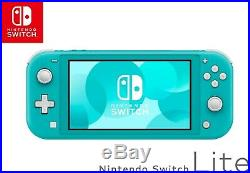 NINTENDO SWITCH LITE Turquoise Teal Handheld Video Game Console NEW SHIPS FREE