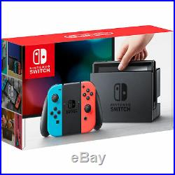 Nintendo Switch with Neon Blue and Neon Red Joy-Con Brand New