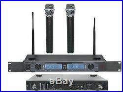 Rockville RWM2602UR UHF Wireless Dual Recharageable HandHeld Microphone System