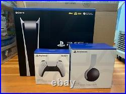 Sony PS5 Digital Edition Console-Controller+Pulse 3D Wireless Bundle (FREE SHIP)