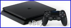 Sony PlayStation 4 Slim 1TB Jet Black Console WITH Accessories PS4 Slim