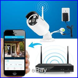 ZOSI 4CH 1080p NVR 960p HD Outdoor Wireless Home Security IP Camera System Wifi